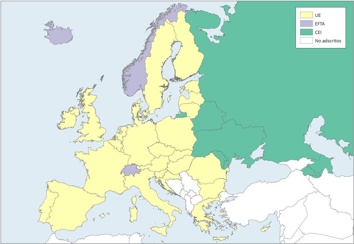 Mapa de Europa: Organizaciones de integración económica 2013. Learn Europe