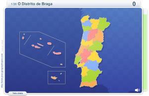 Distritos de Portugal.  Jogos geográficos