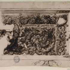 Detalles ornamentales para un friso o pedestal