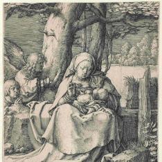 La Virgen y el Niño con dos ángeles