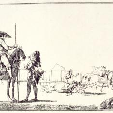 Las mulillas arrastran al toro
