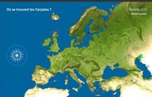 Montagnes de l'Europe. Toporopa