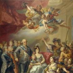 Carlos IV y su familia homenajeados por la Universidad de Valencia