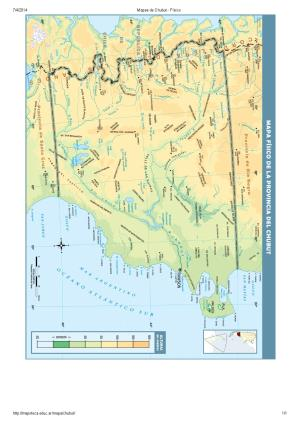Mapa de ríos del Chubut. Mapoteca de Educ.ar