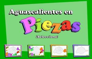 Municipios de Aguascalientes. Puzzle. INEGI de México