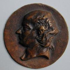 Medallón con retrato de Pierre Jean de Beranger