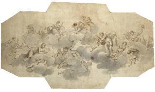 Apolo y Juno con tres Estaciones y las Lluvias