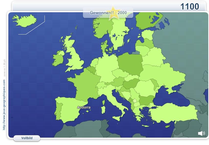 Geo Quizz Europa. Geographie Spiele