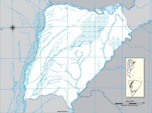 Mapa mudo de Corrientes. IGN de Argentina