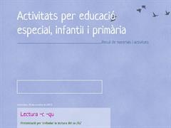 Activitats per educació especial, infantil i primària