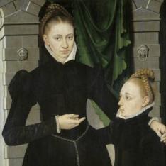 Dama y niña