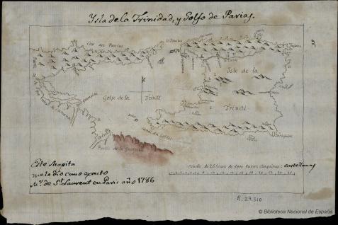 Ysla dela Trinidad y Golfo de Parias