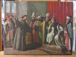 San Francisco ante el sultán de Egipto, Malec-El-Kamal