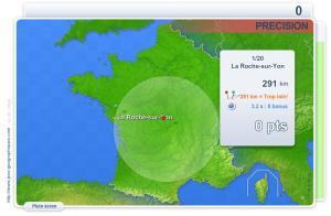 Villes de France Précision. Jeux géographiques