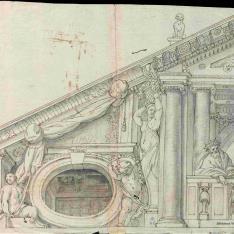 Decoración del frontón de la ermita de San Pablo en el Buen Retiro
