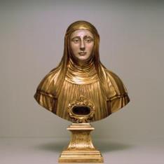 Busto-relicario de Santa Escolástica