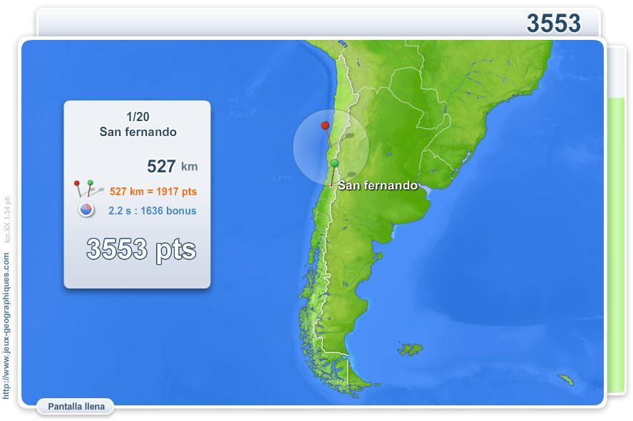 Ciudades de Chile. Juegos Geográficos