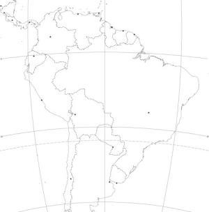 Mapa de países de Sudamérica. Blographos
