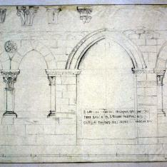Arquitectura monástica medieval. Detalle de sala capitular.