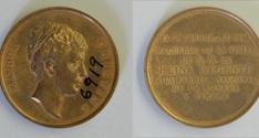 Medalla conmemorativa de la visita de la reina María Cristina a la Fábrica Nacional de mOneda y Timbre