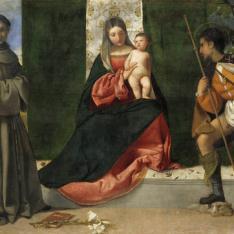La Virgen con el Niño, entre San Antonio de Padua y San Roque