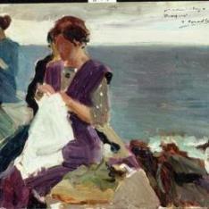 Tres mujeres cosiendo, San Sebastián