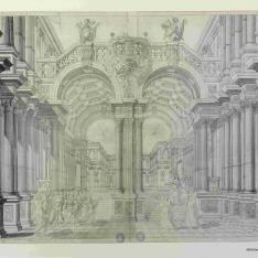 Decoración teatral para la ópera de Jephté
