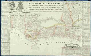 Mapa o carta corographica del departamento de Cadiz