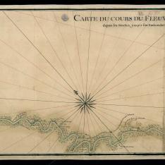 Carte du cours du fleuve St. Louis