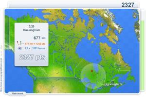Villes du Canada. Jeux géographiques
