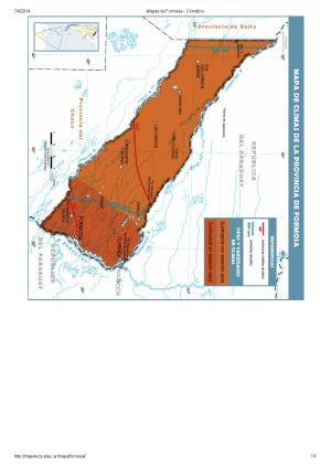 Mapa climático de Formosa. Mapoteca de Educ.ar