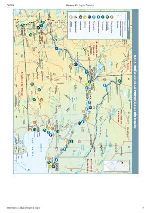 Mapa turístico de Río Negro. Mapoteca de Educ.ar