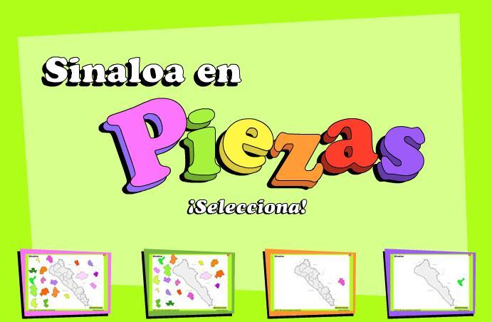 Municipios de Sinaloa. Puzzle. INEGI de México