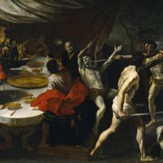 Gladiadores en un banquete