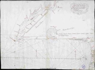 Mapa que abarca desde la desembocadura del río Garona hasta la del río Deva