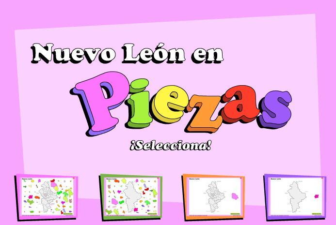 Municipios de Nuevo León. Puzzle. INEGI de México