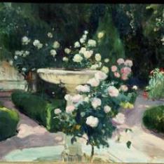 Fuente y rosal de la Casa Sorolla