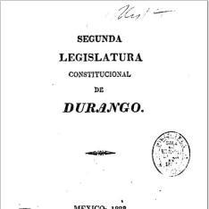 Segunda legislatura constitucional de Durango