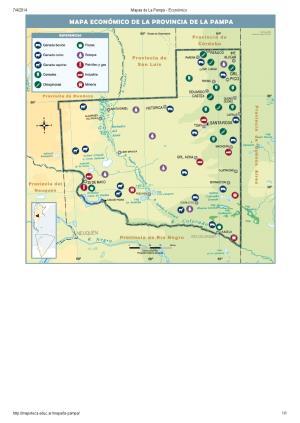 Mapa económico de La Pampa. Mapoteca de Educ.ar