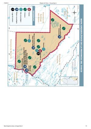 Mapa arqueológico del Chaco. Mapoteca de Educ.ar