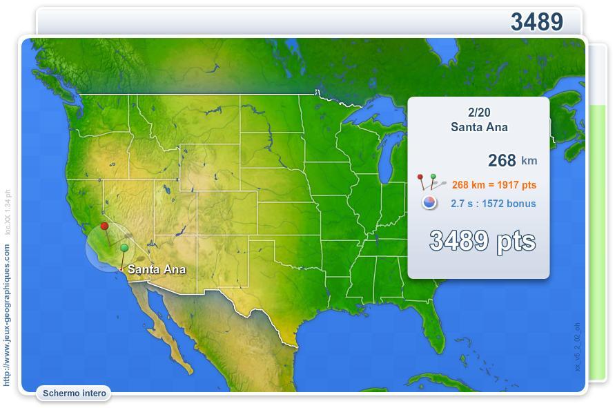Città degli USA. Giochi geografici