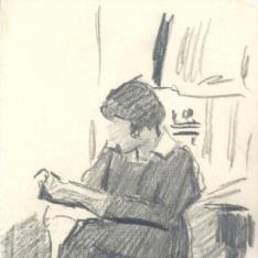 Figura femenina leyendo