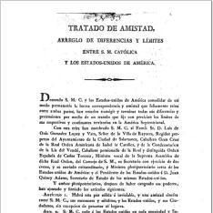 Tratado de amistad, arreglo de diferencias y límites entre S. M. Católica y los Estados-Unidos de América