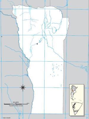 Mapa mudo de San Luis. IGN de Argentina
