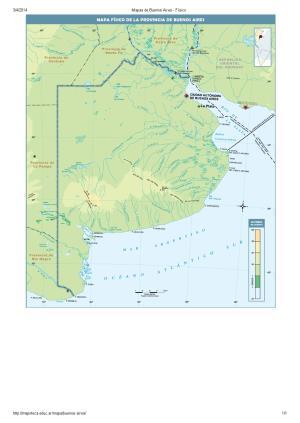 Mapa de ríos y montañas de Buenos Aires. Mapoteca de Educ.ar