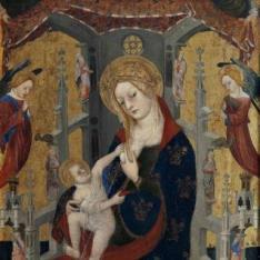 La Virgen de la Leche con el Niño entre San Bernardo de Claraval y San Benito