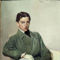 Joaquín Sorolla García sentado