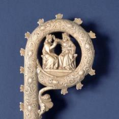 Báculo con la Coronación de María
