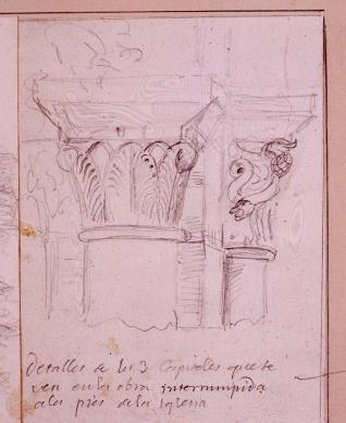 Capiteles de la Ermita de Santiago, Agüero, Huesca