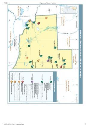 Mapa histórico de La Pampa. Mapoteca de Educ.ar